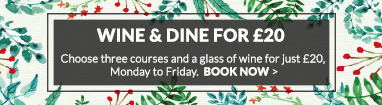 Wine and Dine for £20 at The Wheatsheaf